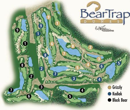 Bear Trap Dunes course layout